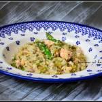 Ryż z łososiem i szparagami