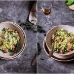 Ryż z awokado i szynką dojrzewającą / Risotto with avocado and ripening ham