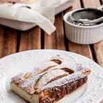 Szybkie ciasto z serem i z jabłkami