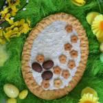 Kokosowy mazurek z truskawkami