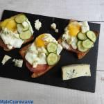 Kanapki z gorgonzolą i jajem