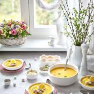 Zupa - krem chrzanowa z warzywami i białą kiełbasą