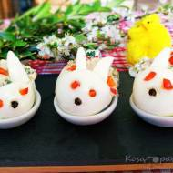 Króliki wielkanocne – jajka faszerowane z tuńczykiem