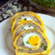 Rolada serowa z mięsem mielonym i jajkiem na twardo