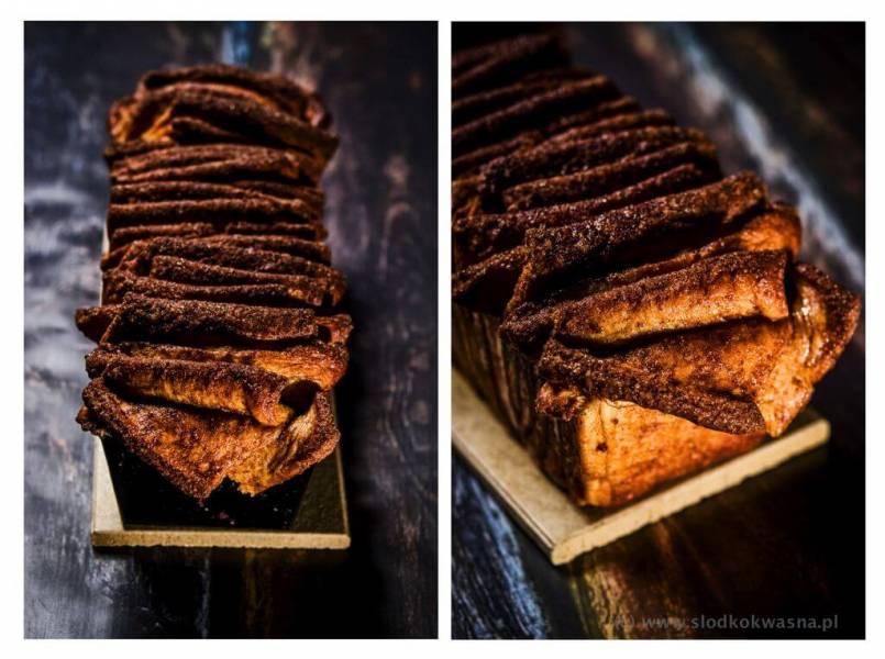Cynamonowiec czyli cynamonowe ciasto drożdżowe do odrywania