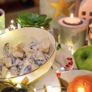 Sałatka Waldorf z selerem, owocami i orzechami