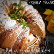 Babka pszenno - żytnia z jabłkami