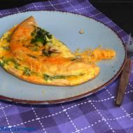 Szpinakowo - rukolowy omlet serowy