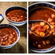 Szybka wegańska zupa z cieciorką