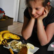 Dziecinnie proste lody bananowe i orzechowe