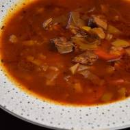 Zupa pomidorowo porowa z salami