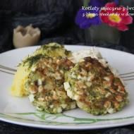 Kotlety jajeczne z brokułem