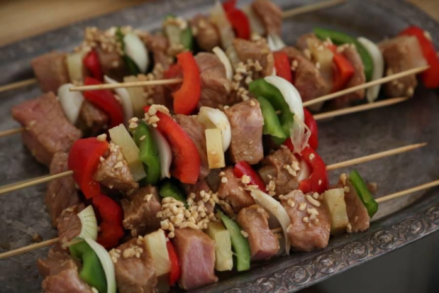 Szaszłki o smaku orientalnym