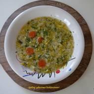 Szybka zupa porowa z kaszą jaglaną