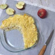 Zapiekanka z kaszy jaglanej z jabłkami i twarogiem