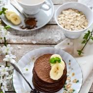 Placki owsiane bananowo-kakaowe