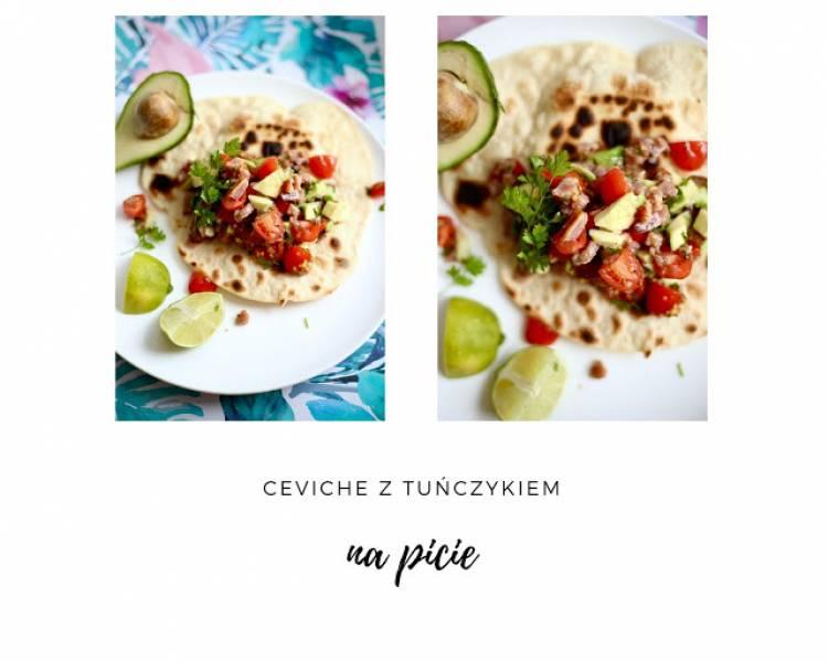 Ceviche z tuńczykiem i awokado na picie