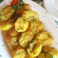 Pieczone ziemniaki z masłem czosnkowym i serem