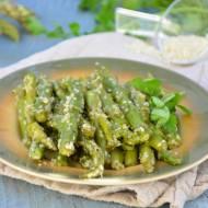Szparagi z sezamem i cytryną