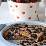 Ekspresowe ciasto owsiane z borówkami - tylko z 3 składników