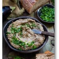 Pasta do chleba bakłażan i grzyby