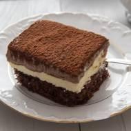 Ciasto z masą i musem czekoladowym