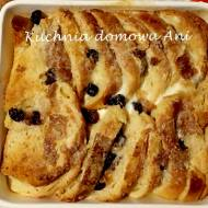 Angielski pudding z rodzynkami / Bread and butter pudding