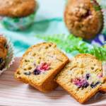 Muffinki Jogurtowe Z Mrożonymi Owocami