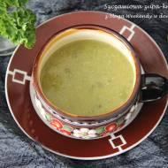 Szczawiowa zupa-krem z fasoli
