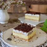 Ciasto krówkowo-śmietankowe bez pieczenia
