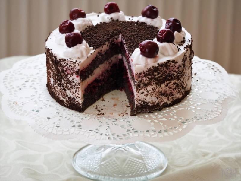 Keto tort szwarcwaldzki (Paleo, LowCarb, bez nabiału)
