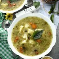 Najzdrowsza zupa na wiosnę – Krupnik jaglany z pokrzywą