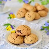 Orzechowe ciasteczka z gorzką czekoladą