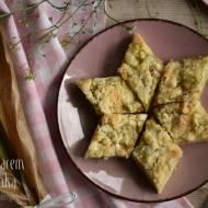 Placek z rabarbarem i kruszonką – kuchnia podkarpacka