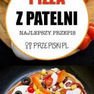 Pizza z Patelni z Szynką, Papryką i Oliwkami