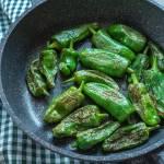 Papryczki padron – Pimientos de Padron fritos