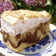 pyszne, łatwe ciasto ucierane z rabarbarem i pianką bezową...