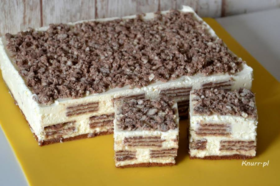 Ciasto z wafelkiem