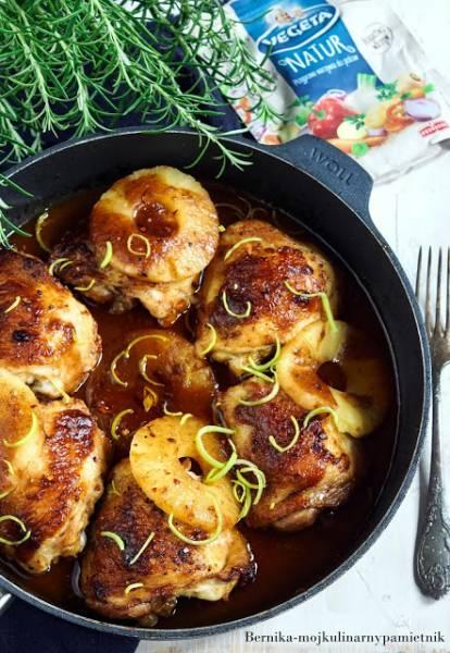 Udka kurczaka w sosie BBQ z ananasem
