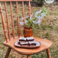 Owsiane brownie z czekoladową glazurą