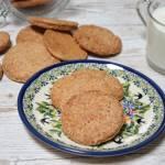 Pełnoziarniste ciastka orkiszowe bez cukru