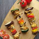 Szaszłyki z piekarnika z kurczakiem i warzywami
