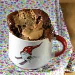 Coś dobrego dla jednego - z mikrofali: kubeczek czekoladowy z masłem orzechowym...