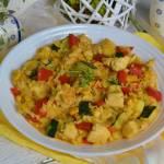 Risotto z indykiem i kolorowymi warzywami
