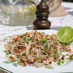 Cellophane makaronowe z wieprzowiną, przepis z kuchni tajskiej
