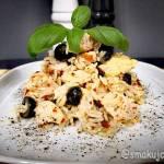 Ryżotto z pesto i oliwkami