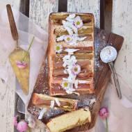Kokosowe ciasto z rabarbarem - bez glutenu