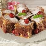 Marmurkowe ciasto z wiśniami