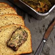 Pieczeń z drobiowego mięsa mielonego i wątróbki kaczej