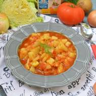 Pomidorowa zupa z młodej kapusty